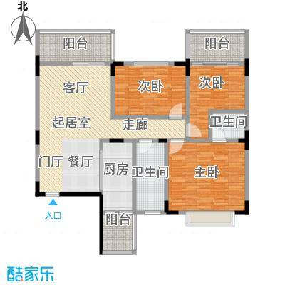 梧桐大厦119.30㎡D户型3室2厅2卫