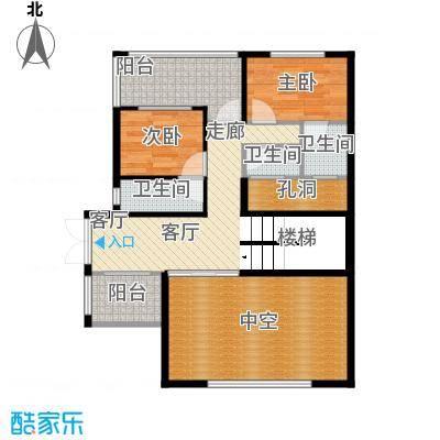 富盈加州阳光香颂别墅三层户型2室1厅3卫