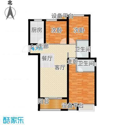 中海锦�湾116.00㎡C3户型3室2厅2卫