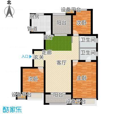 中海锦�湾136.00㎡C5户型4室2厅2卫