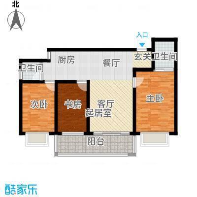 漓江蓝湾89.01㎡3#A户型(两房变三房)户型2室2厅2卫