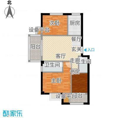 御景湾6A户型3室1厅2卫1厨