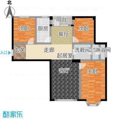 颐莲家园106.00㎡A户型3室2厅1卫