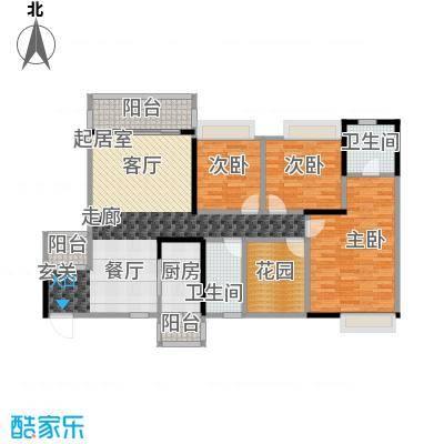 汇景御泉香山127.00㎡78、79栋01、02户型3室2卫1厨