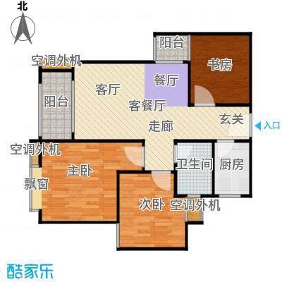 宝安江南城三期御城86.00㎡高层海景公寓C1户型