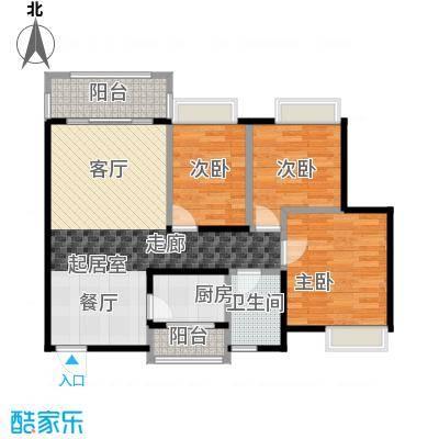 汇景御泉香山89.00㎡71栋2单元01、02户型3室1卫1厨