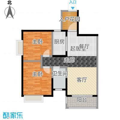 汇景御泉香山80.00㎡71栋1单元04户型2室1卫1厨