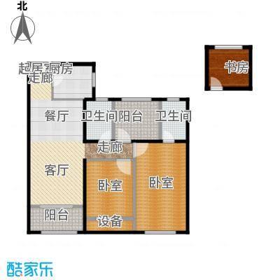 路劲城106.00㎡3号楼B2+户型3室2厅2卫