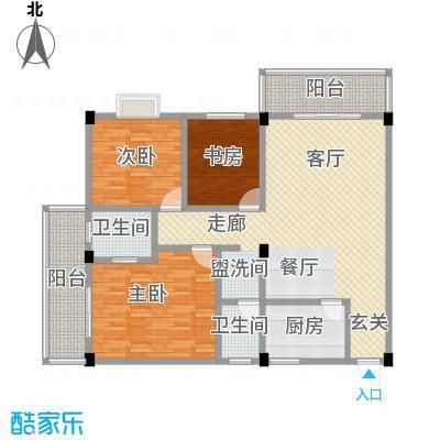 桂林留园118.00㎡三房户型3室2厅2卫LL