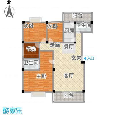 桂林留园138.94㎡四房户型4室2厅2卫LL
