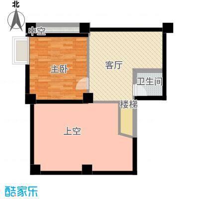 汇丰国际度假公寓一房两厅一厨一卫户型