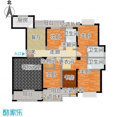 盛辉仕林东湖户型4室3卫1厨