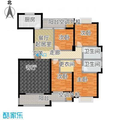 盛辉仕林东湖户型4室2卫1厨