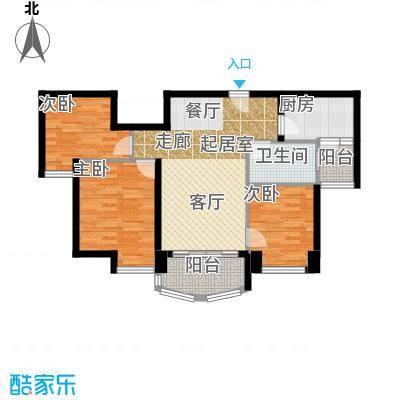 福鼎碧桂园J582-B户型3室1卫1厨