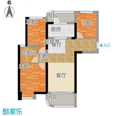 福鼎碧桂园阔景美居J475-A户型3室1卫1厨