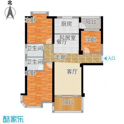 福鼎碧桂园帝景华宅J582-A户型3室2卫1厨