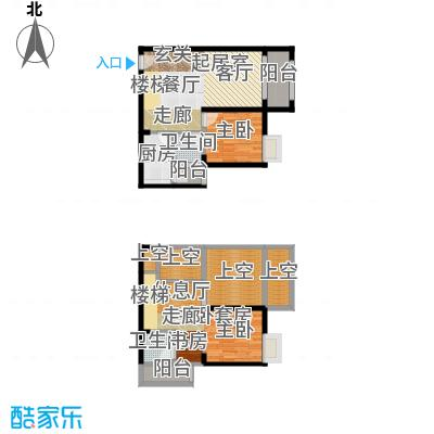重庆巴南万达广场双卫户型1室2卫1厨