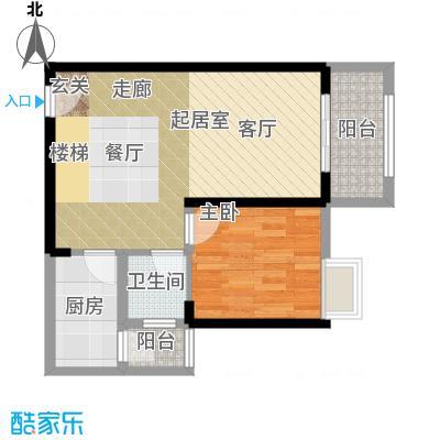 重庆巴南万达广场跃层E下双卫户型1室1卫1厨