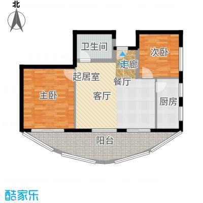 晋唐海湾G户型2室1卫1厨