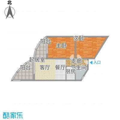 晋唐海湾E户型2室1卫1厨