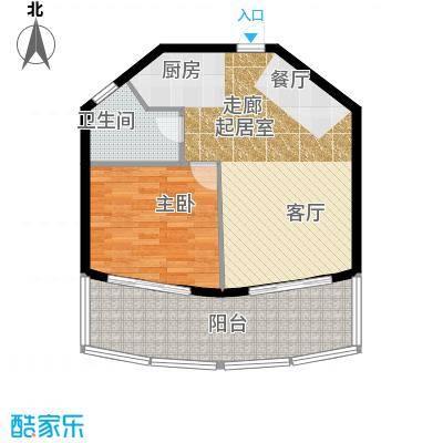 晋唐海湾C户型1室1卫