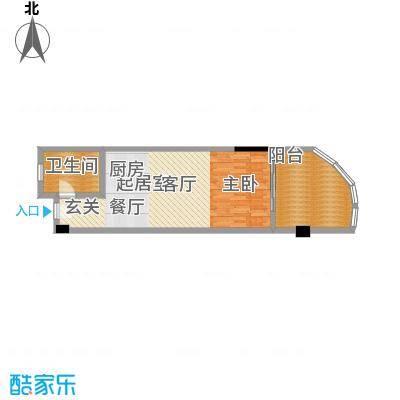 晋唐海湾A户型1卫