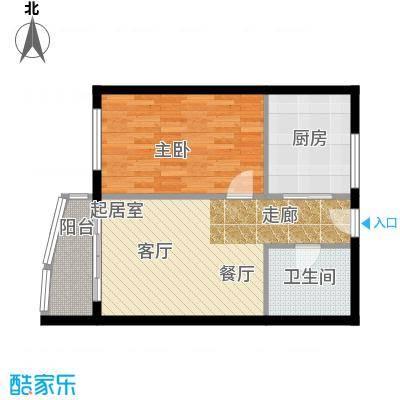 晋唐海湾H户型1室1卫1厨