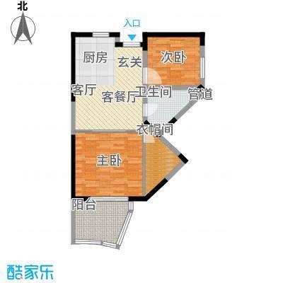 平海・逸龙湾户型2室1厅1卫