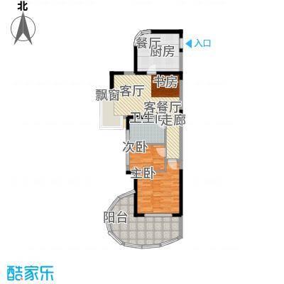 平海・逸龙湾户型2室1厅1卫1厨