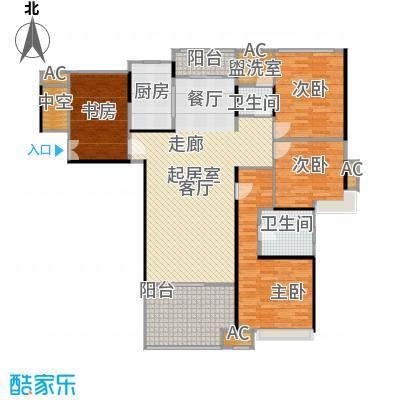 蓝光名仕公馆144.00㎡C2户型 144平米户型4室2厅2卫