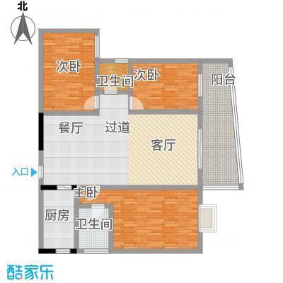 昌泰千秋大厦132.37㎡C户型3室2厅2卫