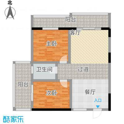 昌泰千秋大厦91.19㎡G户型2室2厅1卫