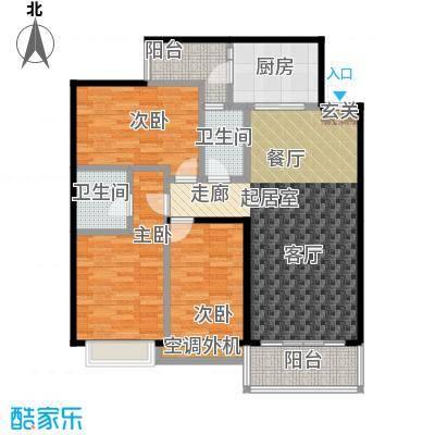 世纪苑114.03㎡A区4#8#B1户型3室2厅2卫