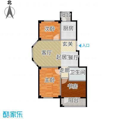 三鼎春天85.00㎡三室两厅一卫85平米户型图户型3室2厅1卫