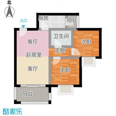 海韵阳光城9号楼户型2室1卫1厨