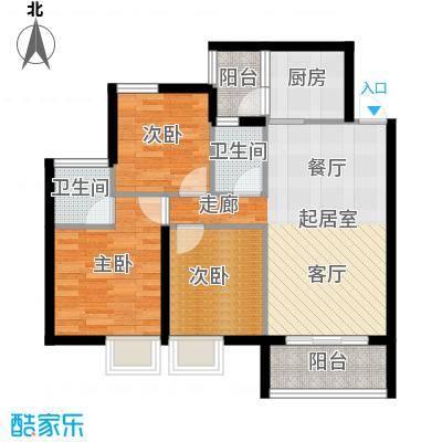 海韵阳光城舒适户型3室2卫1厨