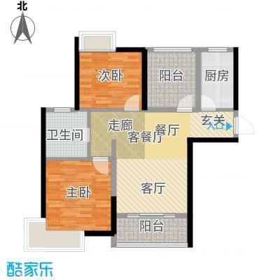 桂丹颐景园89.00㎡香樟01户型2室1厅1卫1厨