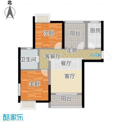 桂丹颐景园89.00㎡香樟02户型2室1厅1卫1厨