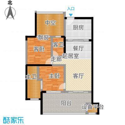 华润・石梅湾九里97.00㎡B户型2室2厅2卫