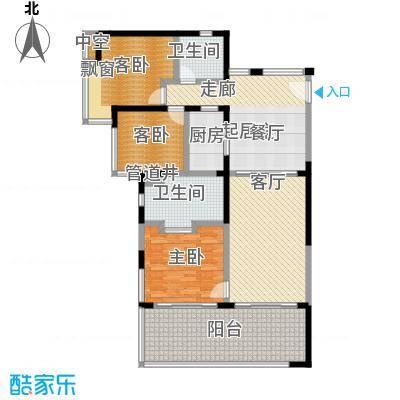 华润・石梅湾九里123.00㎡D户型3室2厅2卫