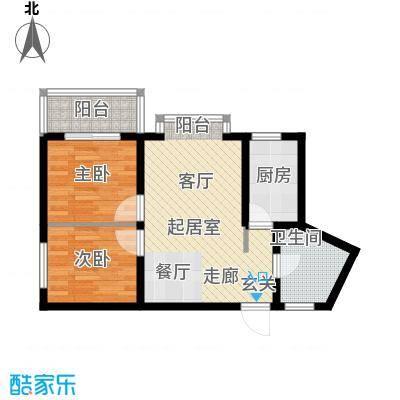 汇泽・蓝海湾67.46㎡A2户型2室2厅1卫