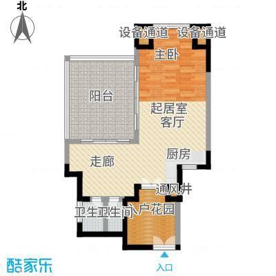 安富・雨林海B2户型1室1厅1卫