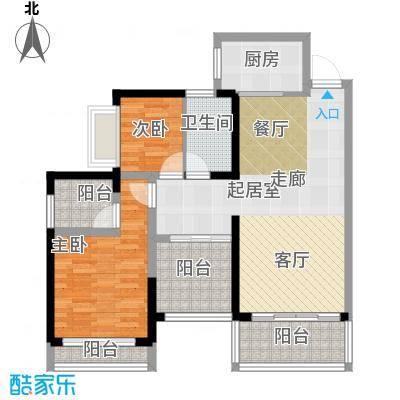 方略城市广场C03户型2室1卫1厨