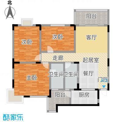 梧桐大厦118.14㎡C户型3室2厅2卫
