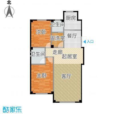 三鼎春天103.00㎡两室两厅两卫103平米户型图户型2室2厅1卫