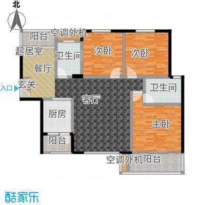 金星阳光格林133.00㎡F户型3室2厅2卫