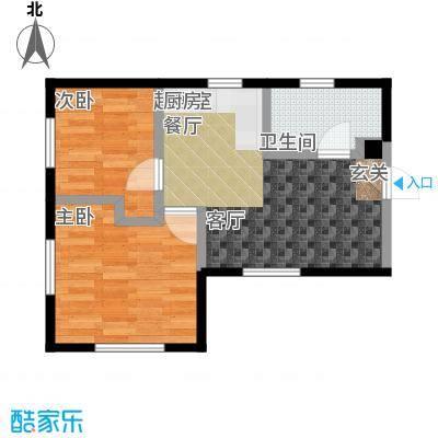 恒瑞・坦城c户型2室1卫