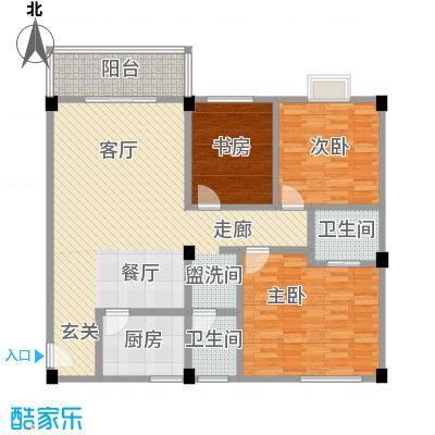 桂林留园112.21㎡三房户型3室2厅2卫LL