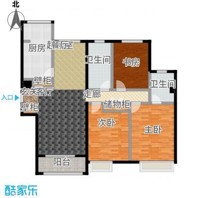 大连天地・悦丽海湾B13R3一层户型3室2卫1厨