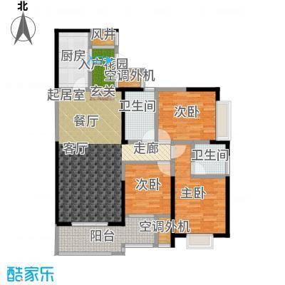 盛辉仕林东湖户型3室2卫1厨